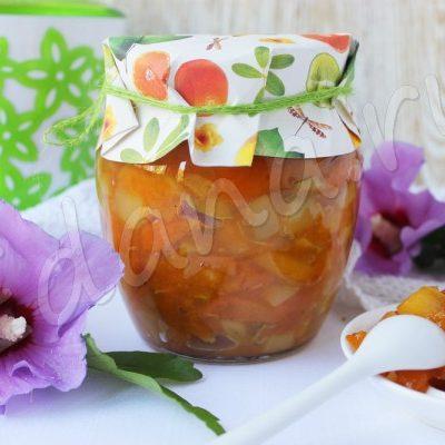 Кабачково-лимонное варенье с кусочками кураги