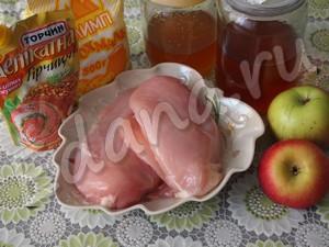Продукты для приготовления курицы в медовом соусе