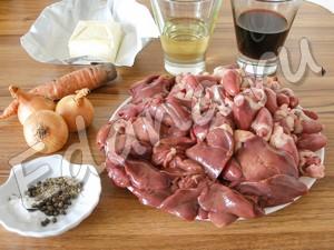 Ингредиенты для куриного паштета из субпродуктов