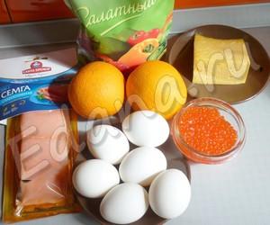 ингредиенты для морского салата жемчужина