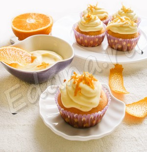Капкейки с апельсиновым кремом