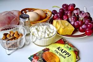 Продукты для салата Тиффани