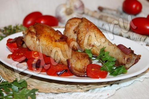 рецепт куриных ножек с помидорами