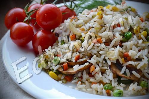 рецепт дикого риса с овощами