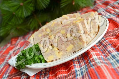 рецепт мясного хлеба с сыром