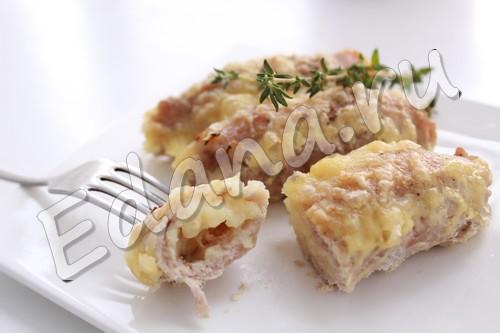 Мясные рулетики из свинины с начинкой - рецепт с фото