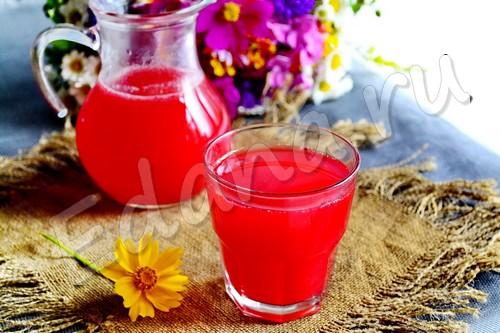 Клюквенный морс из замороженных ягод с медом