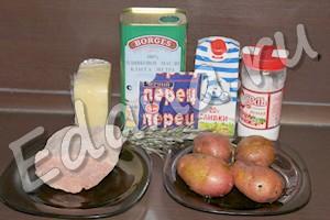 Ингредиенты для свиных рулетиков