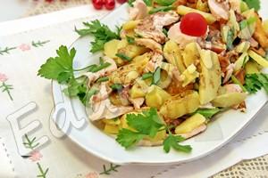рецепт салата с лисичками