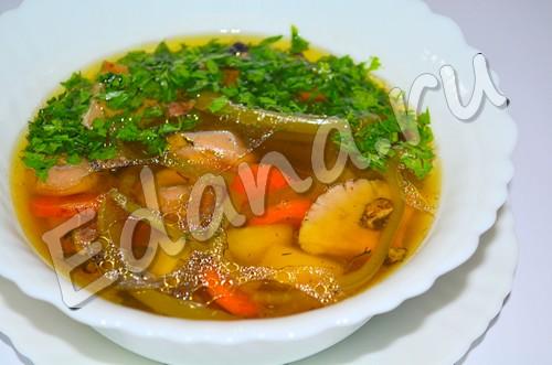 рецепт приготовления грибного супа в мультиварке