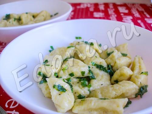 Картофельные ньокки: рецепт основного блюда + соуса