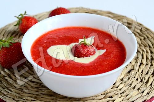 Клубничный суп-пюре