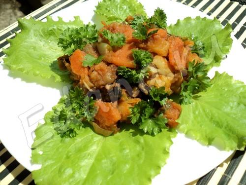Рагу с шампиньонами и овощами