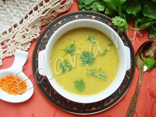 Суп-пюре из красной чечевицы (индийская кухня)