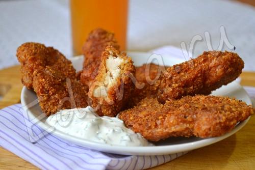 Куриные наггетсы в сырно-сухарной панировке