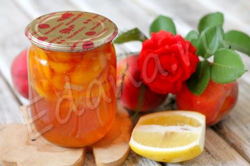 Персиковое варенье с лимоном