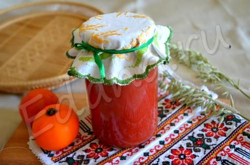Соленый томатный сок на зиму