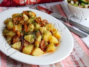 Жаркое лисички с картошкой
