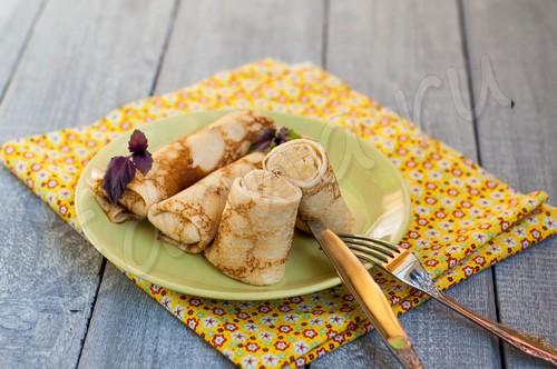 Блины с картофельно-куриной начинкой
