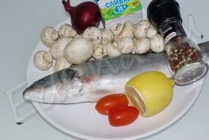 Ингредиенты для сибаса в духовке