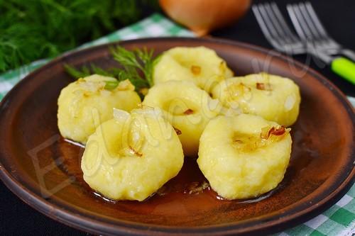 Клецки – шарики из картофельного теста
