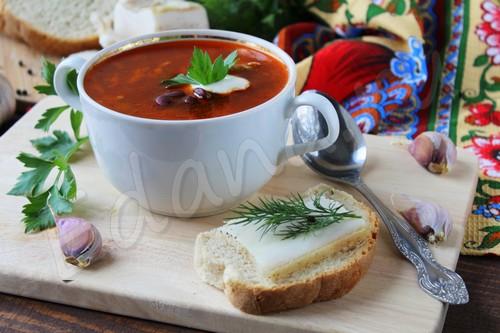супы рецепты борщ с фасолью рецепт