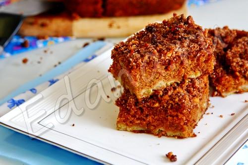 Ревеневый пирог на сметане и тростниковом сахаре