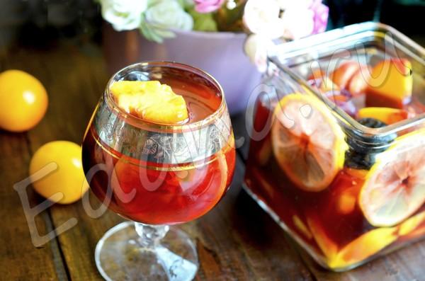 Фруктово-ягодная Сангрия на красном вине
