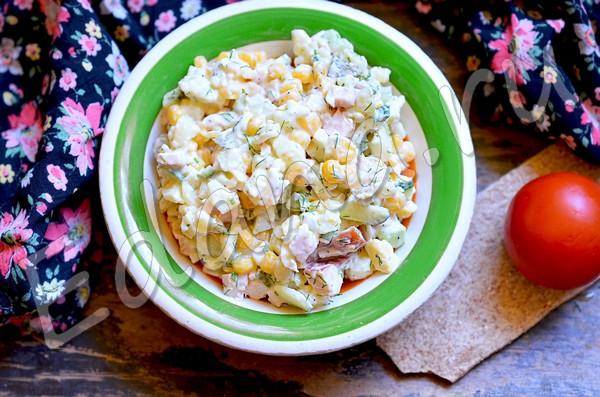 Салат с курицей и кукурузой - рецепт с фото