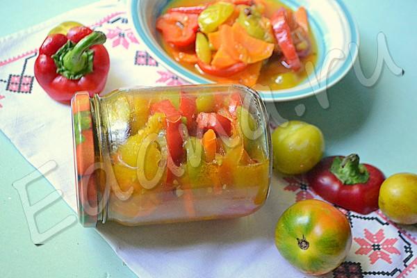 Топ-7 салатов из недозрелых зеленых помидоров на зиму