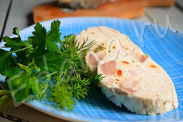 Домашняя колбаса из свинины без кишок