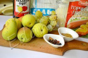 Ингредиенты для груш в пряном маринаде