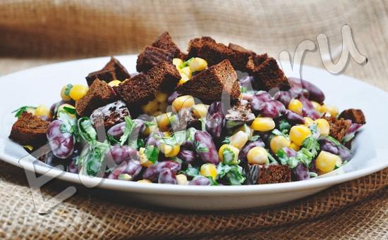 Салат из фасоли студенческий