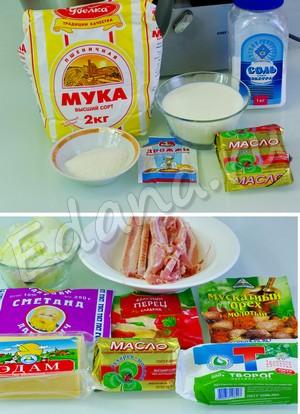 Ингредиенты для приготовления творожного пирога