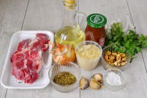 Ингредиенты для харчо