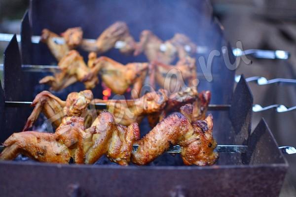Как замариновать крылышки для шашлыка: маринады для курицы