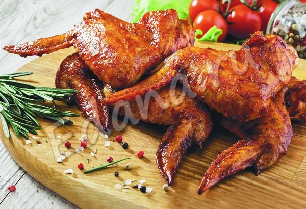 Жареные куриные крылышки на мангале
