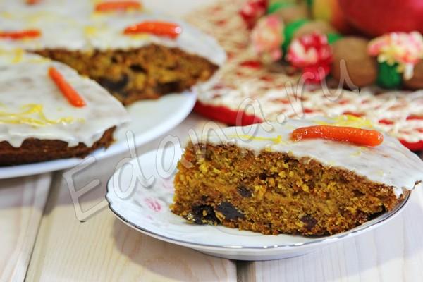 Морковный пирог с карамелизованной мини морковкой