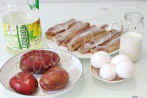 Ингредиенты для минтая с картошкой