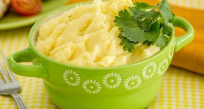 Кабачковое пюре с картофелем и желтком