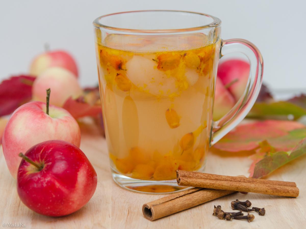Компотик из термоса: яблоко, шиповник,облепиха