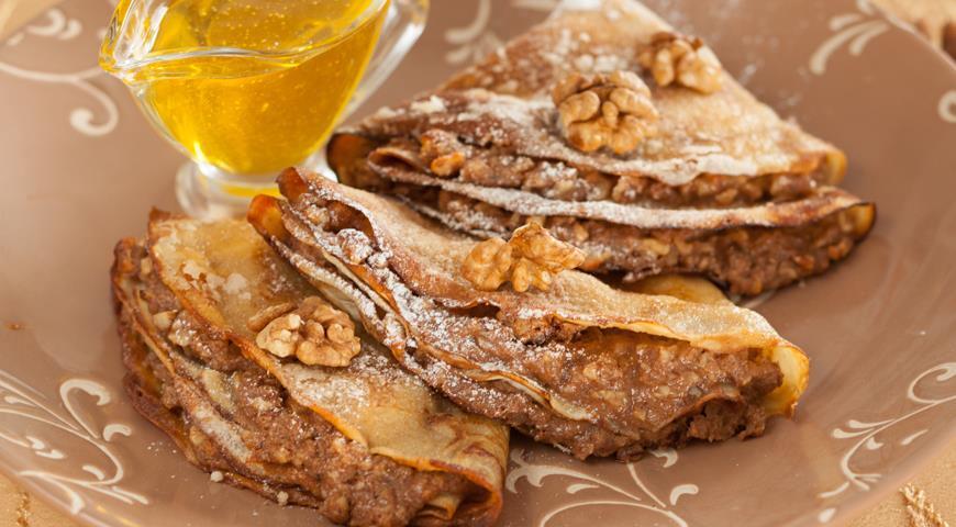 Оладушки с ореховой начинкой