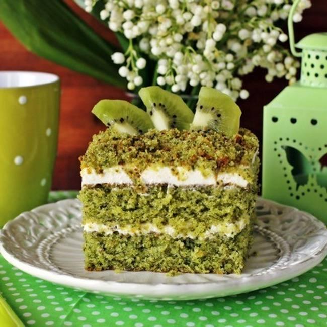 Изумрудный бисквит для тортов и десертов