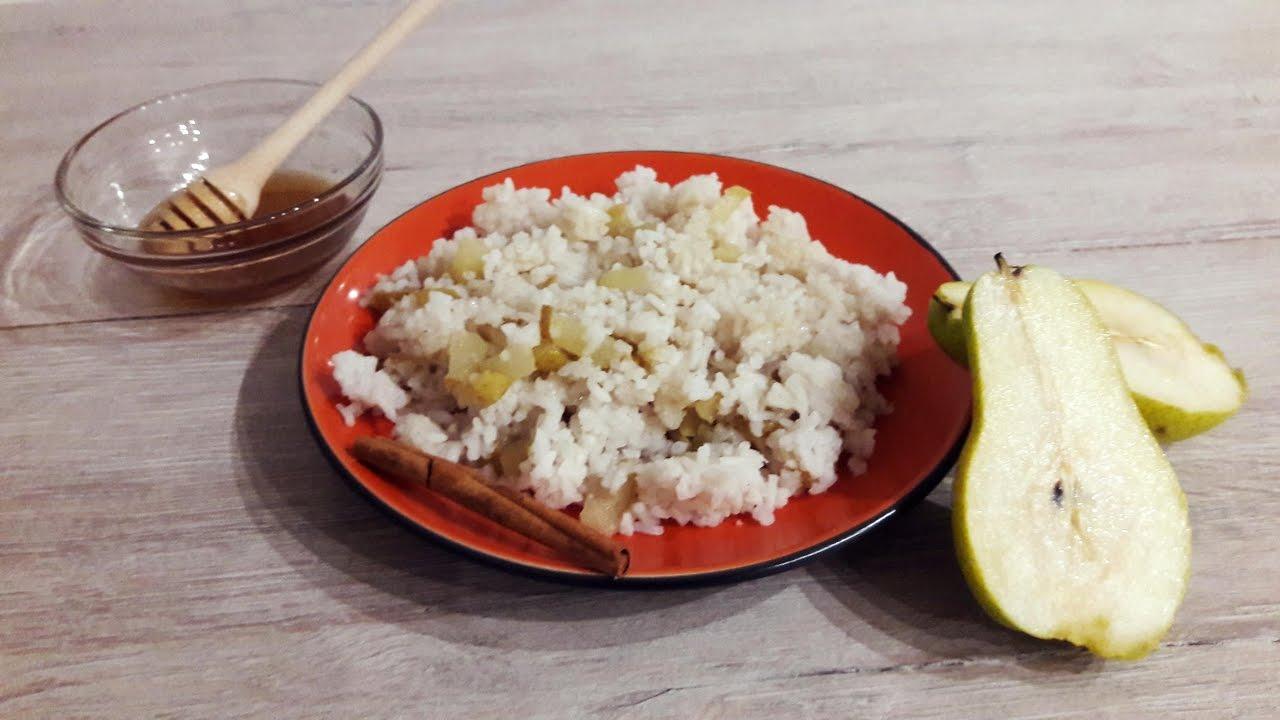 Рисовая каша с грушей