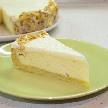 Лимонно-твороженный торт