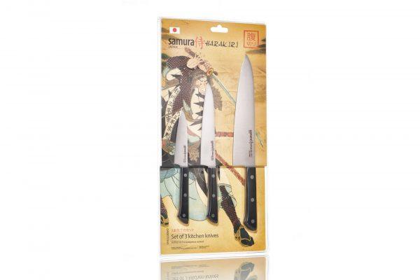 3 ножа Поварская тройка Samura HARAKIRI SHR-0220WO/K