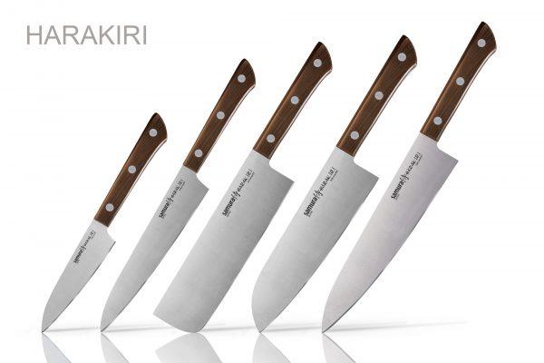 5 ножей Samura HARAKIRI Wood (упакованы отдельно)