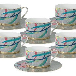 Чайный набор : 6 чашек (сер) + 6 блюдец Восточная лилия Naomi 57195