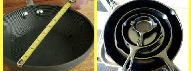 диаметр сковороды