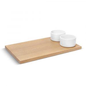 Доска для хлеба с соусницами Umbra SAVORE натуральное дерево/белый 460164-668